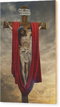 His Ultimate Gift Of Mercy - Jesus Christ Wood Print by Luther Fine Art