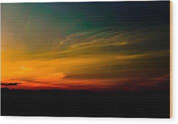 Good Friday Sunset Wood Print by Ronda Broatch