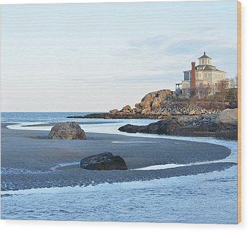 Good Harbor Beach Wood Print