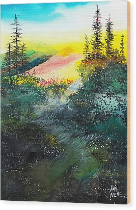 Good Morning 3 Wood Print by Anil Nene