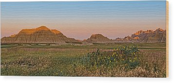 Good Morning Badlands II Wood Print by Patti Deters