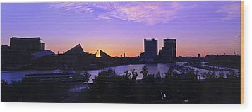 Good Morning Baltimore Wood Print by Marianne Campolongo