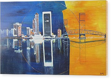 Good Morning Jacksonville Wood Print by Gary Smith