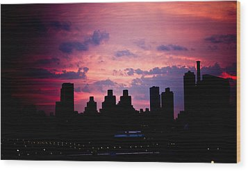 Wood Print featuring the photograph Good Morning New York by Sara Frank