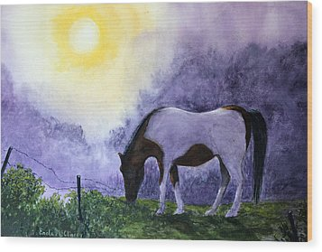 Good Morning Patches Wood Print by Enola McClincey