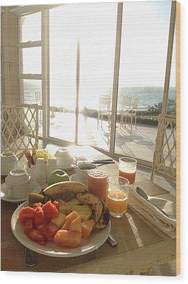 Good Morning Wood Print by Selia Hansen
