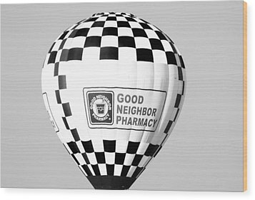 Good Neighbor Pharmacy In Infra Red Wood Print