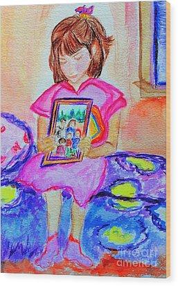 Good Night Family-love Olivia Wood Print by Helena Bebirian