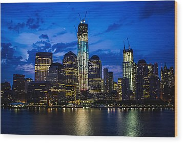 Good Night, New York Wood Print