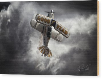 Wood Print featuring the photograph Good Year Cloud by Paul Job