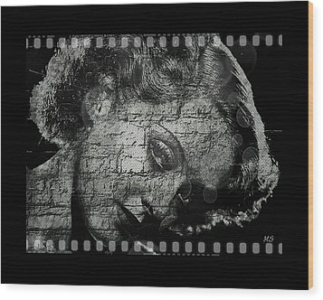 Goodbye Classic America Wood Print by Absinthe Art By Michelle LeAnn Scott