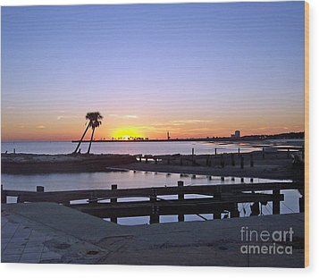 Wood Print featuring the photograph Goodbye Sun by Roberta Byram
