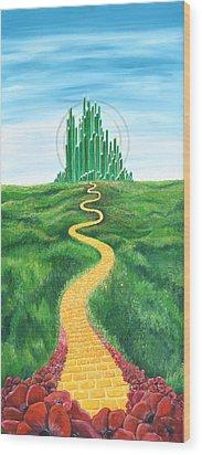 Goodbye Yellow Brick Road Wood Print