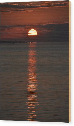 Goodnight Sun Wood Print