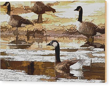 Goose Abstract Wood Print