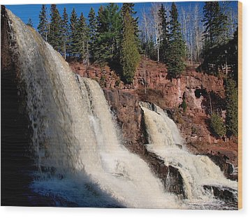Gooseberry Falls Wood Print by James Peterson