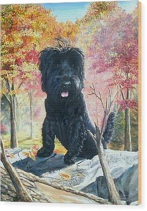 Gordan Wood Print by Ruanna Sion Shadd a'Dann'l Yoder