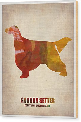 Gordon Setter Poster 1 Wood Print by Naxart Studio