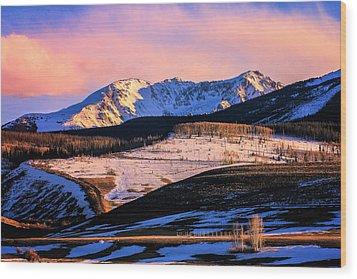 Gore Range Sunset Wood Print by John McArthur