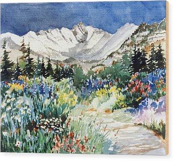 Gore Range Trail Wood Print by Patty  Frierson