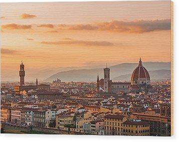 Gorgeous Florence City Wood Print