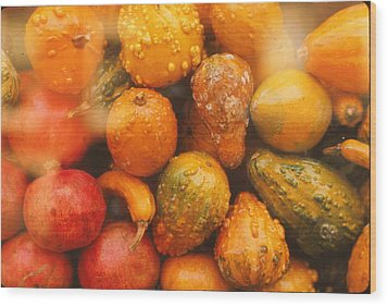 Wood Print featuring the photograph Gorgeous Gourds by Ira Shander