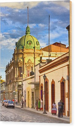 Gorgeous Streets Of Oaxaca Mexico Wood Print by Mark E Tisdale