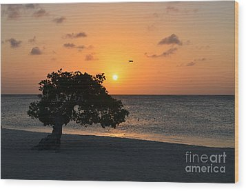 Gorgeous Sunset Wood Print by DejaVu Designs
