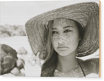 Gorgeous Young Woman Wood Print by Kicka Witte