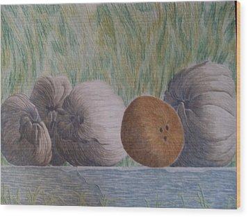 Gossip Wood Print by A  Robert Malcom