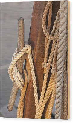 Got Enough Rope  Wood Print by Eugene Bergeron