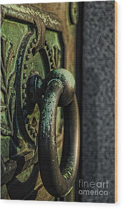 Goth - Crypt Door Knocker Wood Print by Paul Ward