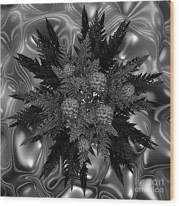 Goth Funeral Wreath Wood Print by First Star Art