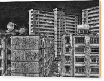 Gotham City Panama Style Wood Print