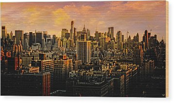 Wood Print featuring the photograph Gotham Sunset by Chris Lord