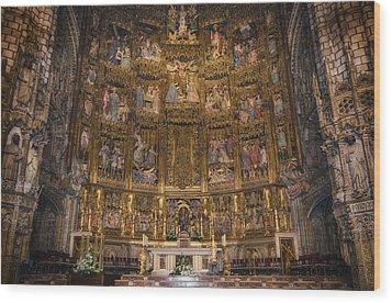 Gothic Altar Screen Wood Print by Joan Carroll