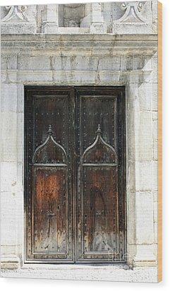 Gothic Arabic Wood Print by Sophie Vigneault