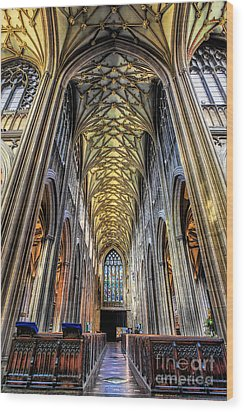 Gothic Architecture Wood Print by Adrian Evans