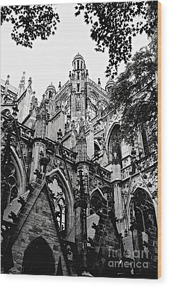 Gothic Cathedral Of Den Bosch Wood Print by Carol Groenen