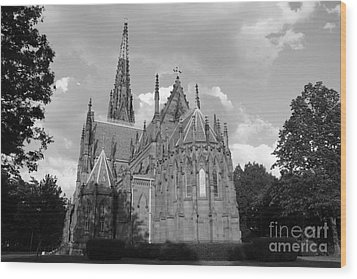 Wood Print featuring the photograph Gothic Church In Black And White by John Telfer