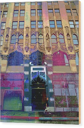 Wood Print featuring the photograph Gothic Entrance by John Fish