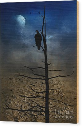 Gothic Landscape  Wood Print by Andrea Kollo