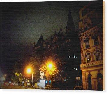 Wood Print featuring the photograph Gothic Skyline by Salman Ravish