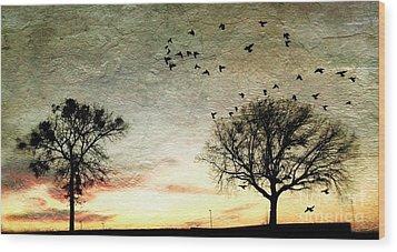 Gothic Sundown - No.1958 Wood Print