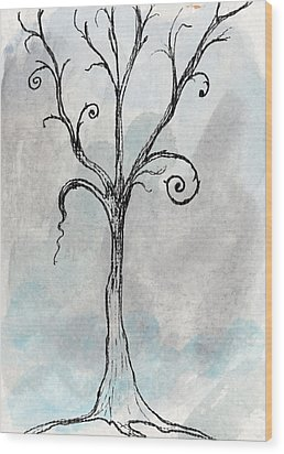 Gothic Tree Wood Print by Jacquie Gouveia