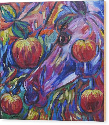 Gotta Luv Them Rosie Apples I Wood Print by Dianne  Connolly