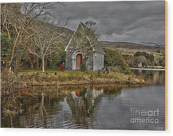 Gougane Barra Wood Print by Joe Cashin