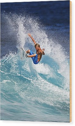 Gouging The Wave  C6j0694 Wood Print