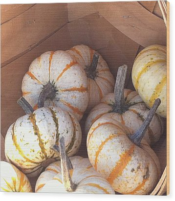 Wood Print featuring the photograph Gourd Harvest by Denyse Duhaime