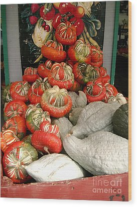 Wood Print featuring the photograph Gourds Piled High by Joyce Gebauer